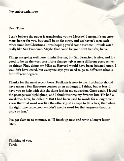 letter asking for help